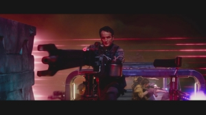 John Connor Brings Mounted Plasma Weapon to Target